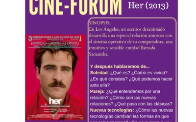 CineForum HER nominada a globo de oro en Nara Psicología