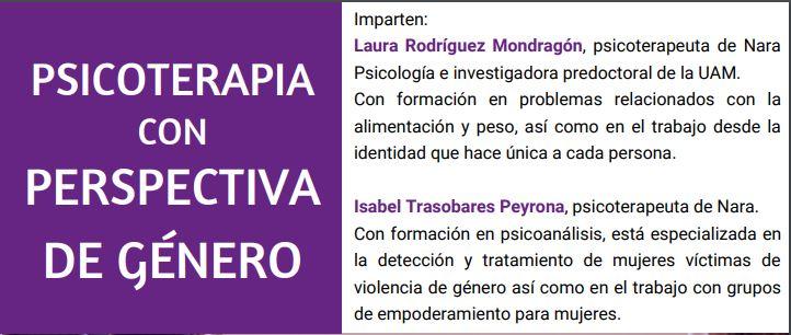 PSICOTERAPIA CON PERSPECTIVA DE GÉNERO